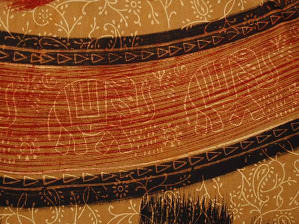 Enchanted Elephant Ethnic Wrap Cotton Skirt