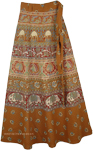 The Indus Animals Block Ethnic Wrap Skirt