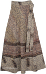 Eclipse Long Wrap Around Skirt