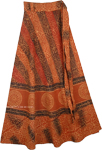 Mystic Chakra Ethnic Wrap Cotton Skirt