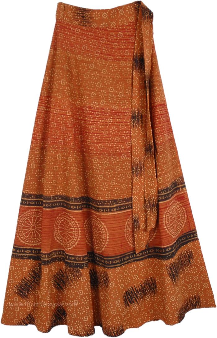 Solar Ash Ethnic Tie Around Skirt, Maasai Piper Long Cotton Wrap