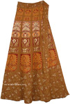 Rope Brown Long Tie Around Skirt