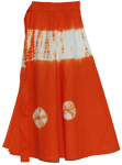Orange Roughy Tires Tie Dye Long Skirt
