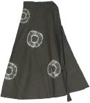 Heavy Metal Tie Dye Rings Long Skirt