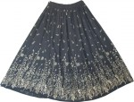Designer Evening Black Golden Sexy Long Skirt