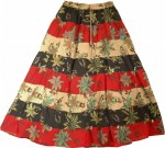 Hawaii Summer Fashion Long Skirt