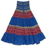 Sapphire Blue Summer Long Skirt Dress