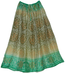 Light Olive Tie Dye Long Skirt