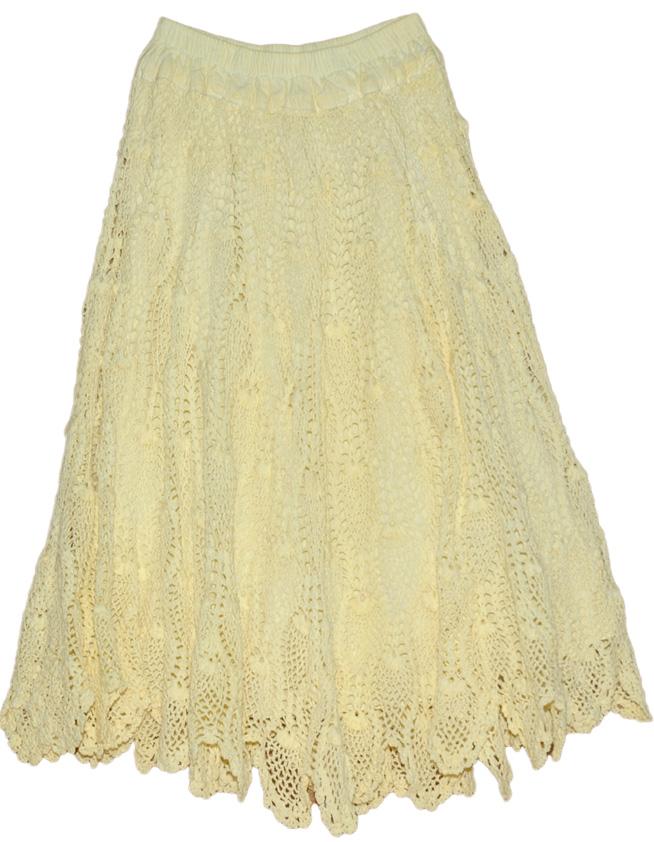 Yellow Long Skirt All Crochet Pattern Crochet Clothing