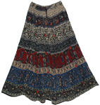 Walking Bells Long Skirt with Mirrors
