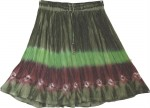 Tie Dyed Short Skirt in Green