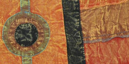 Piper Orange Panel Boho Skirt