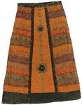 Boho Stonewash Solar Frontal Skirt  [2414]