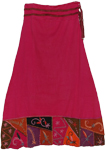 Cerise Red Elegant Boho Skirt