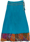 Bahama Blue Royal Boho Skirt