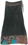 Charcoal Knight Boho Skirt