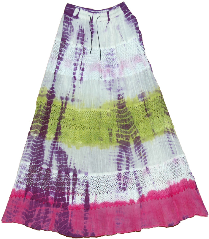 Popsicle Tie Dye Long Skirt  :  discount handbag designer inspired handbag skirts long skirt
