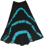 Black Tie Dye Skirt Blue Streaks