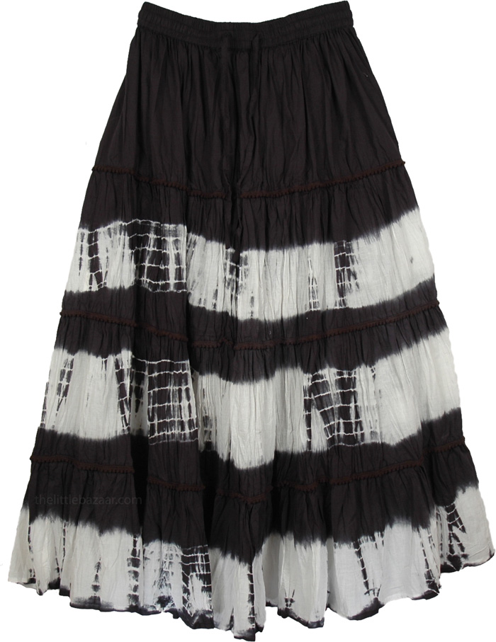 323e06a194 Black White Tie Dye Skirt - Clothing - Sale on bags, skirts, jewelry ...
