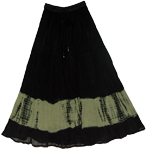 Black Tie Dye Skirt Limed Ash Streaks