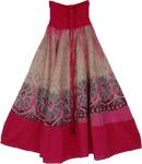 Sandal Pink Mosaic Smock Boho Skirt