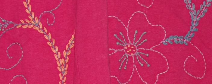 Maroon Flush Embroidered Full Skirt