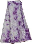 Bossanova Purple Tie Dye Calf Length Skirt