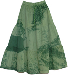 Green in Green Tie Dye Tiered Skirt