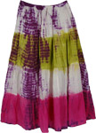 Popsicle Lace Tie Dye Skirt