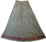 Olive Green Bohemian Long Skirt