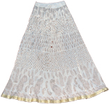 Iron White Crinkle Skirt in Golden Humor