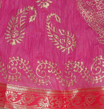 Hibiscus Maroon Crinkle Indian Long Skirt