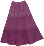 Cosmic Magenta Cotton Skirt