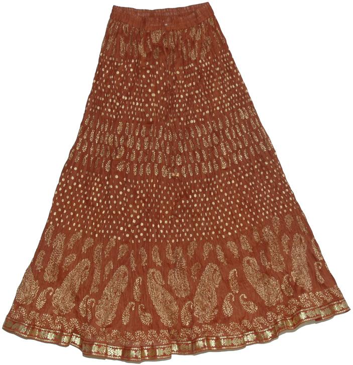 Brown Crinkle Skirt 72