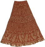 Nutmeg Crinkle Summer Skirt