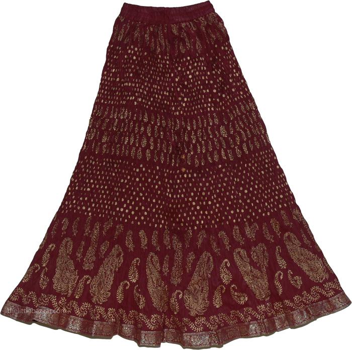 Brown Crinkle Skirt 85