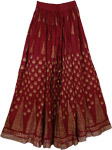 Sizzle Crinkle Long Skirt