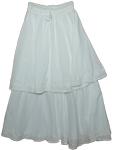 Short on Long White Long Skirt