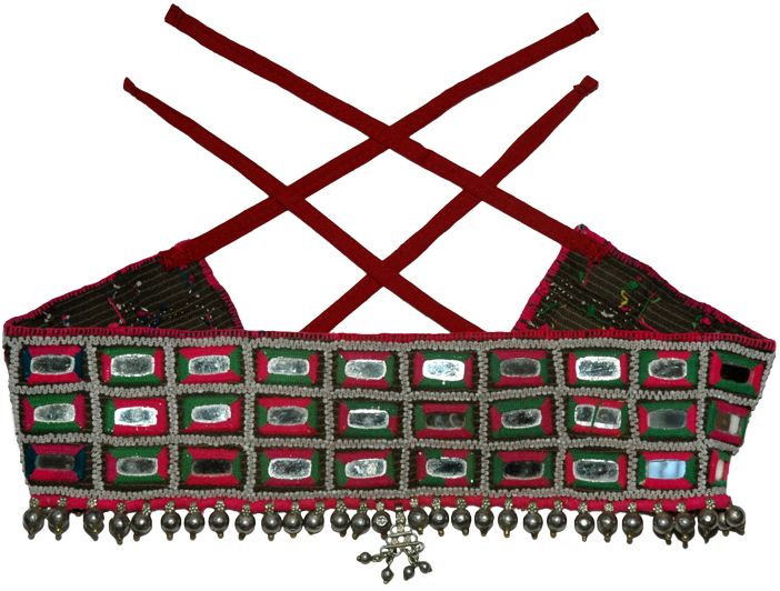 Indian Traditional Mirror Belt, Tribal Gypsy Mirror Beads Belt