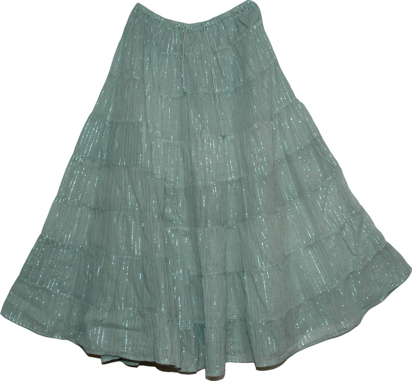 Oslo Gray Flowy Skirt