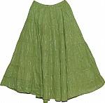 Asparagus Silver Tinsel Spring Skirt