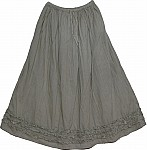 Grey Skirt with Frill Work