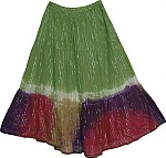 Rainbow Summer Gauze Skirt