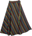 Bohemian Lines Cotton Wrap Skirt