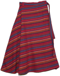 Bohemian Pinky Stripes Cotton Long Skirt