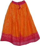 Bright Gypsy Boho Tie Dye Long Skirt