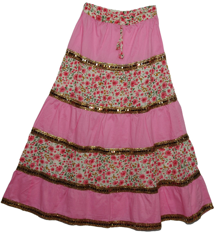 69318bbc16 Golden Lace Long Indian Skirt - Clearance - Sale on bags, skirts ...