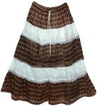 Earthy Lace Cotton Long Skirt
