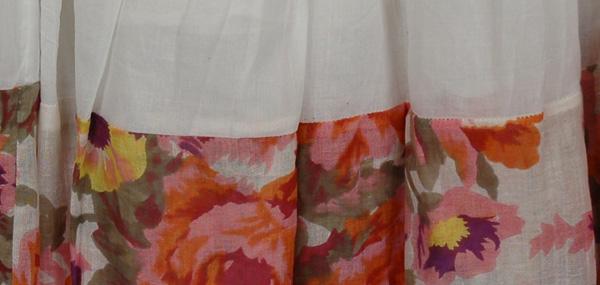 Garden White Cotton Long Skirt