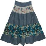 Banded Maxi Boho Skirt